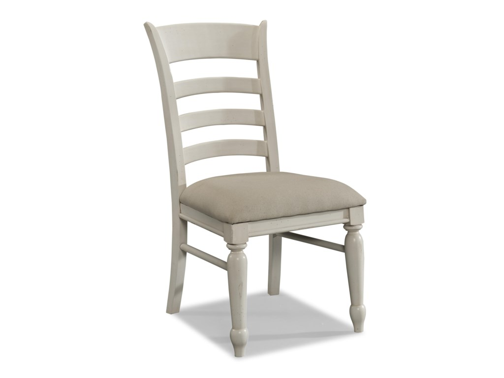 Sea Breeze White Ladder Back Side Chair By Carolina Preserves Klaussner At Hudson S Furniture