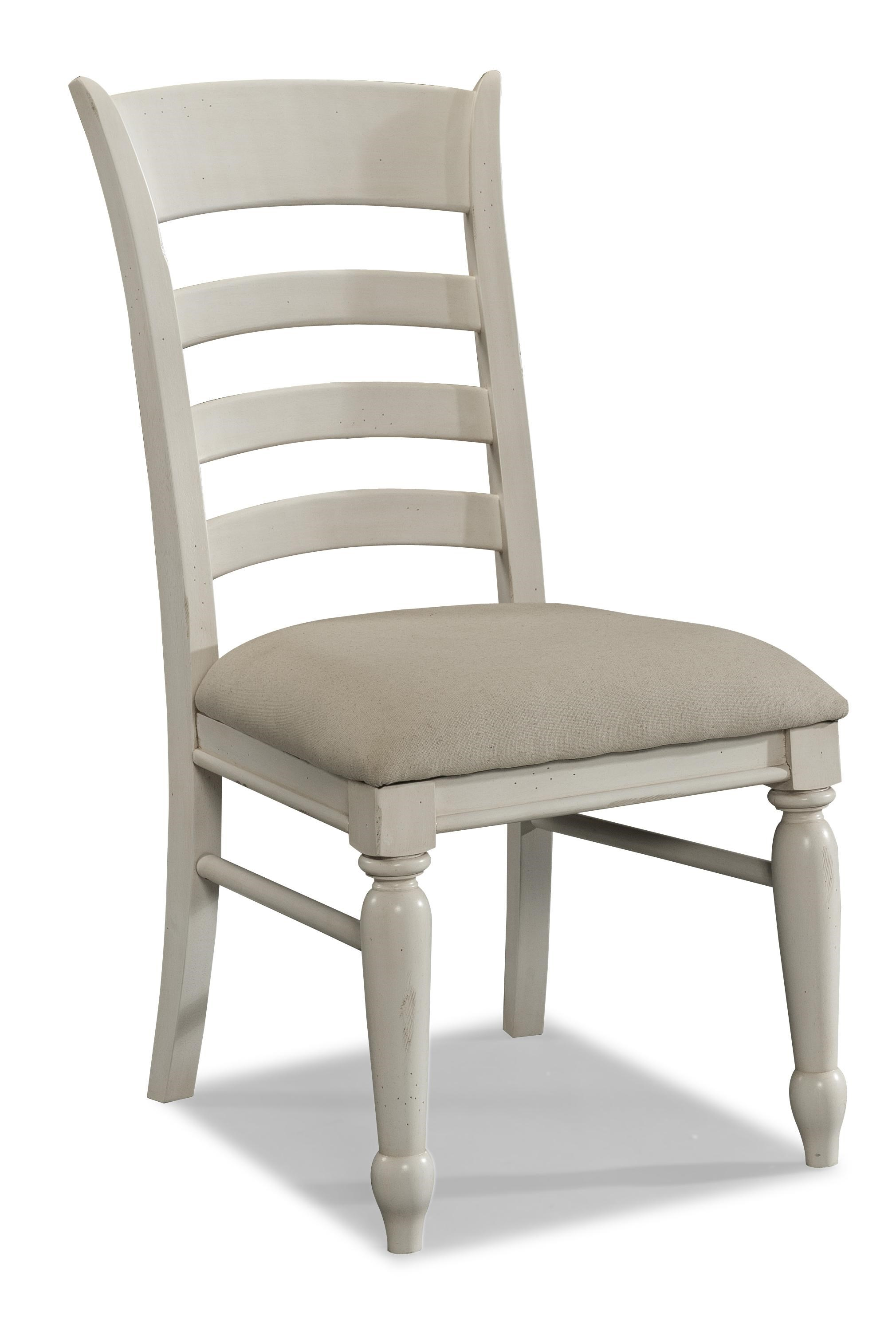 Carolina Preserves By Klaussner Sea BreezeWhite Ladder Back Side Chair ...