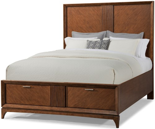Carolina Preserves by Klaussner Simply Urban Queen Neighboring Heights Bed with Footboard Storage