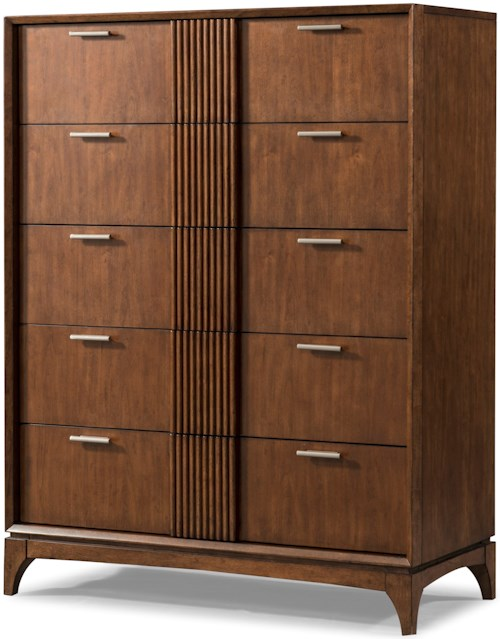 Carolina Preserves by Klaussner Simply Urban Contemporary Five Drawer Chest with Cedar-Lined Bottom Drawer and Hidden Jewelry Tray