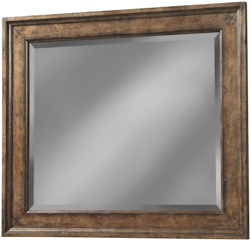 Carolina Preserves by Klaussner Southern Pines Landscape Mirror with Wood Frame and Beveled Glass