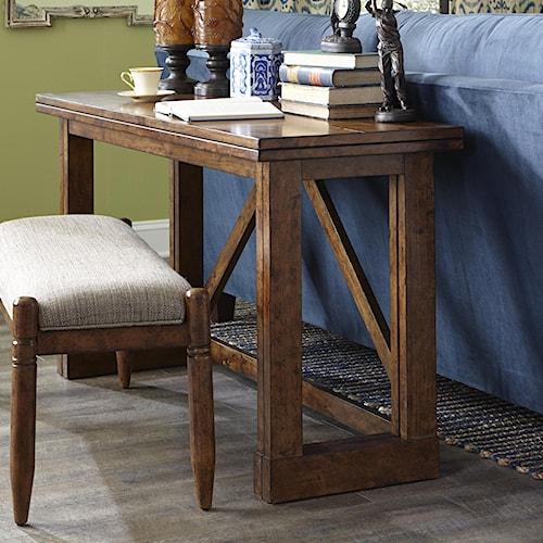 Easton Collection Farmhouse Gate Leg Sofa Table