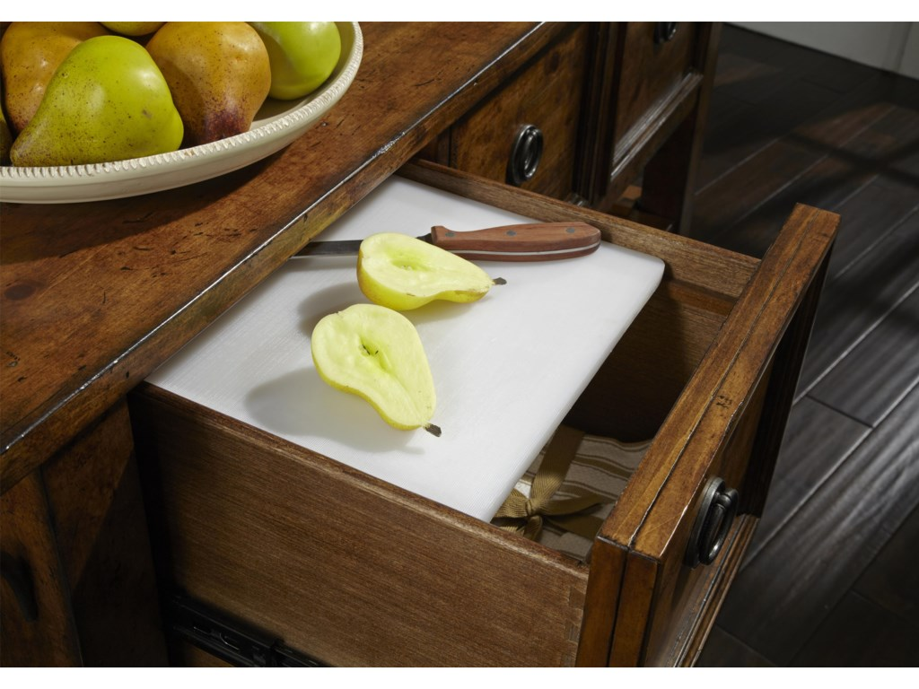 Drawer Holds Cutting Board for Easy and Convenient Prep