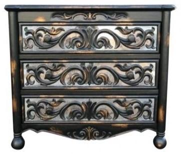Picture of: Casa Bonita Raquel Vintage Black Gold Raquel Dresser Howell Furniture Dressers
