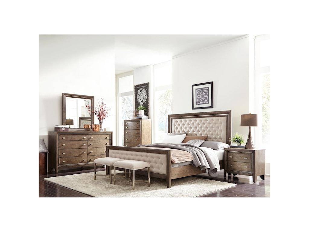 Casana AberdeenKing Upholstered Panel Bed