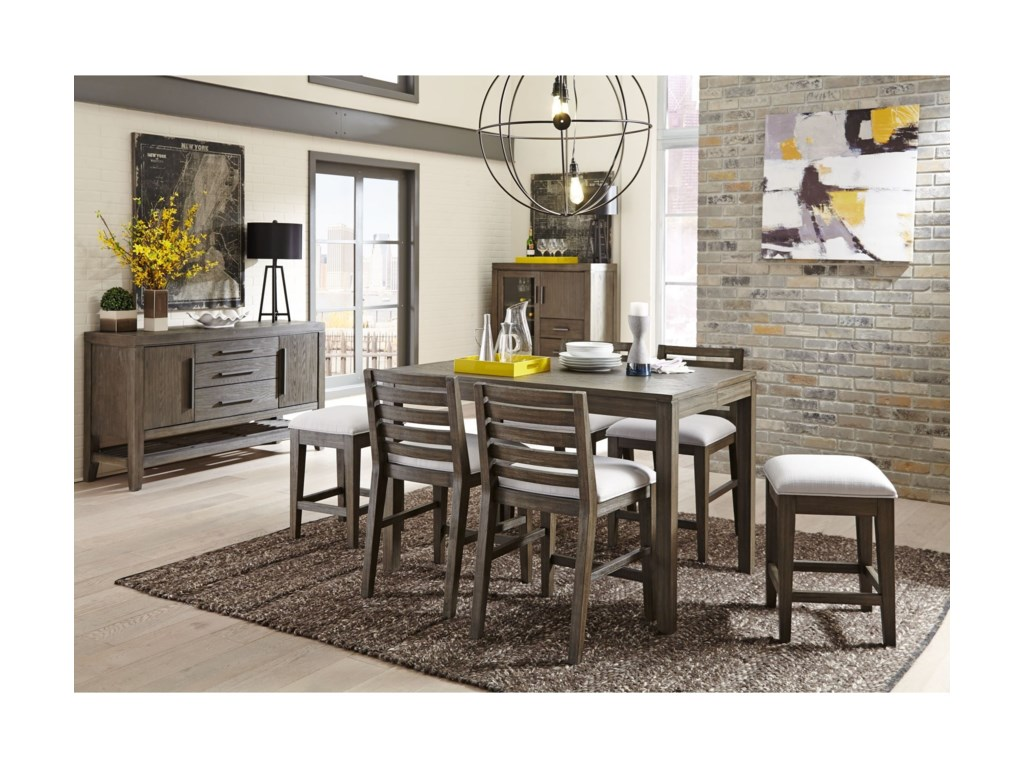 Belfort Select District7 Piece Counter Height Dining Set
