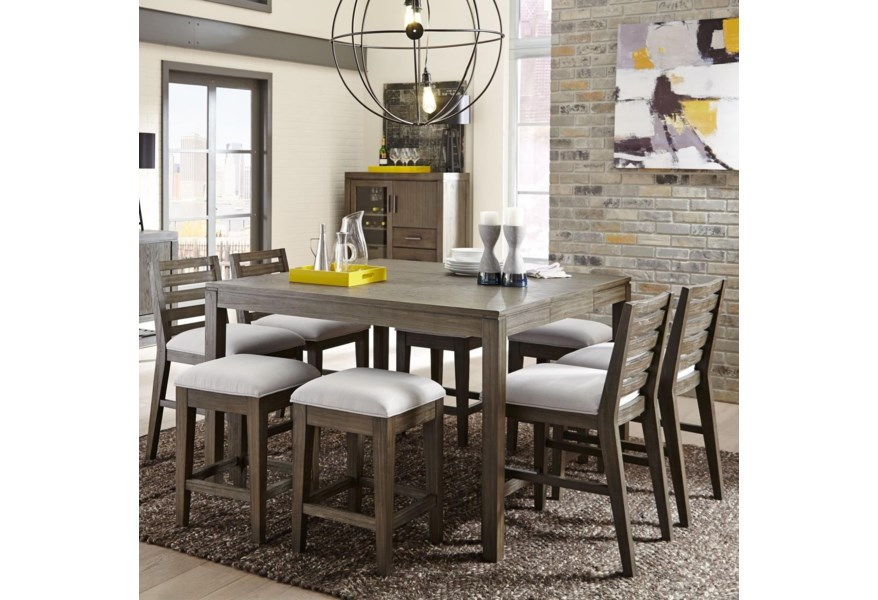 Casana Bravo 237 160 4x140 4x42 9 Piece Counter Height Dining Set Corner Furniture Pub Table And Stool Sets
