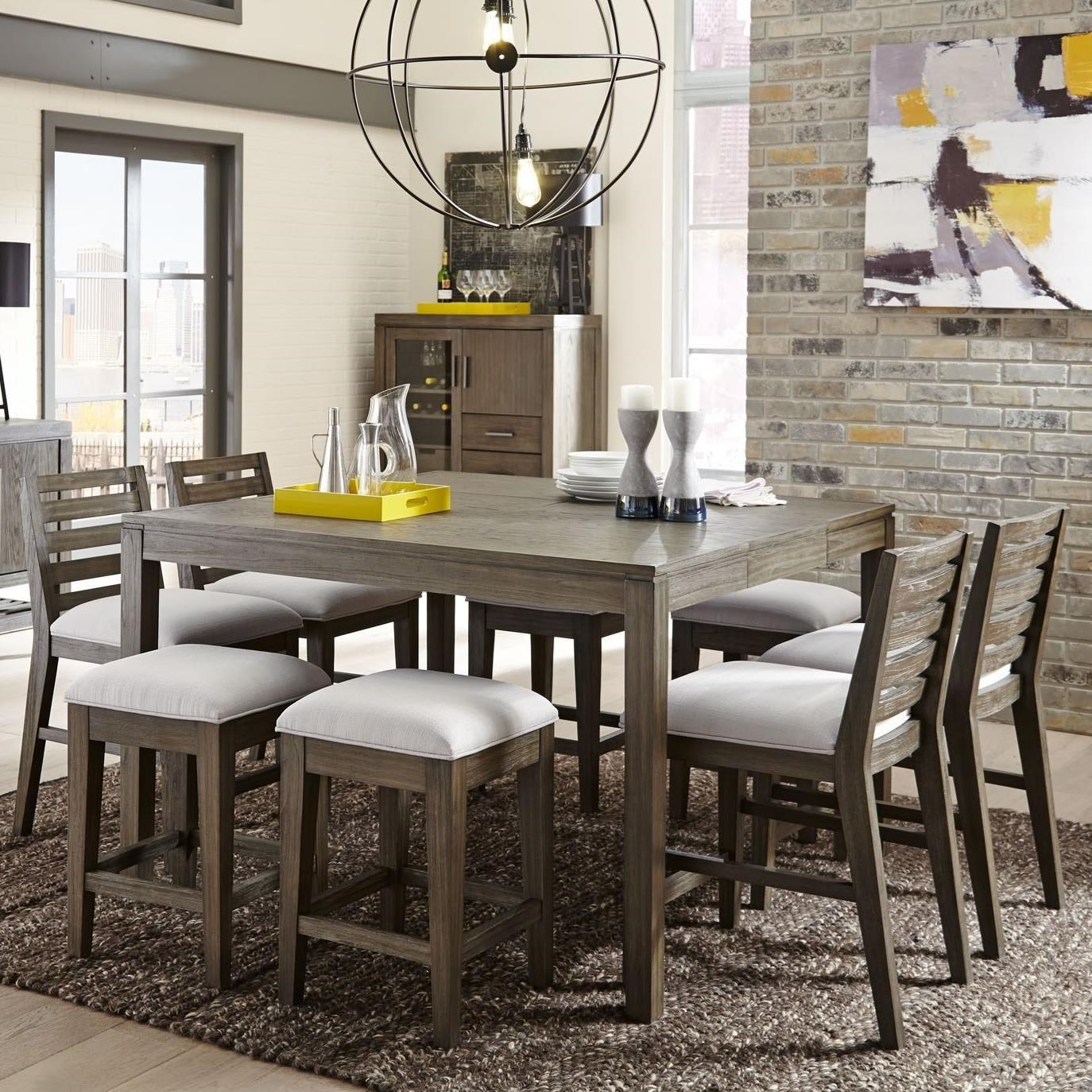 Belfort Select District9 Piece Counter Height Dining Set ...