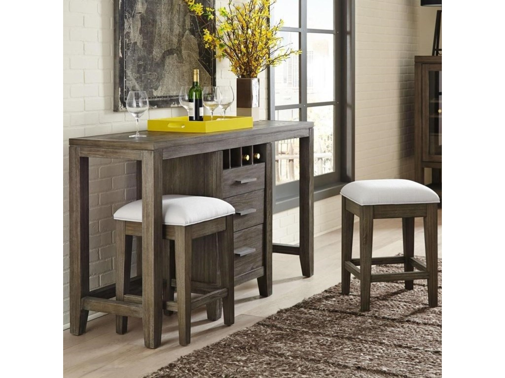 District Multifunctional Console and Stools Set