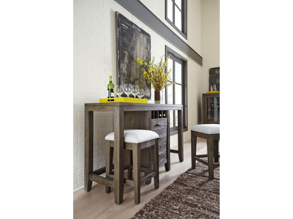 Belfort Select DistrictMultifunctional Console and Stools Set