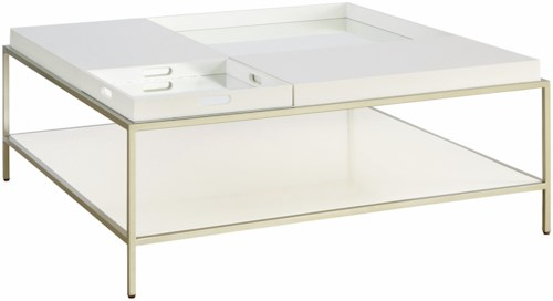 Casana Delaney Coffee Table with Removable Tray Top