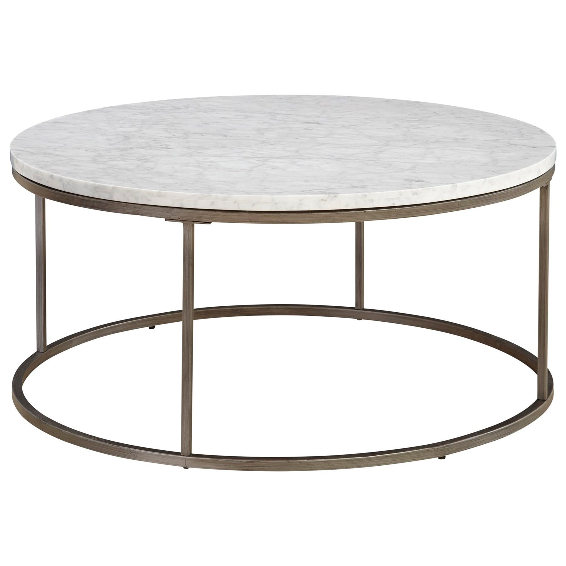 Casana JulienRound Marble Cocktail Table ...
