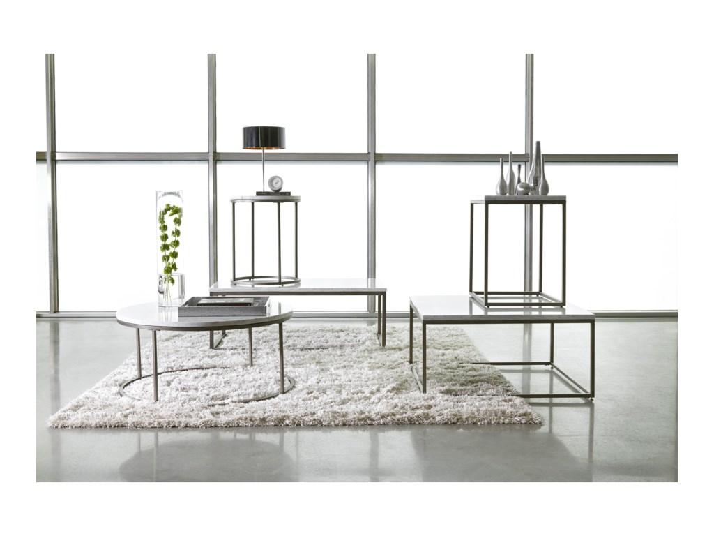 Casana JulienRound Marble Cocktail Table