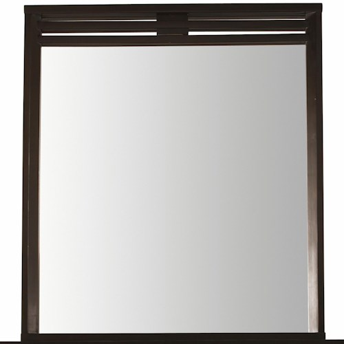 Belfort Select East Gate Portrait Mirror with Unique Slatted Top Frame Design