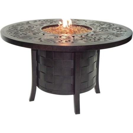 """49"""" Round Dining Table with Firepit"""