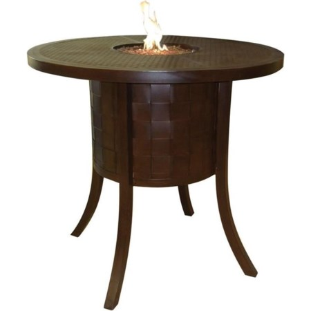 """49"""" Round Classical Bar Table with Firepit a"""