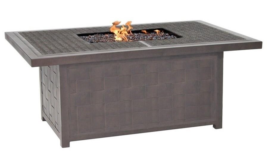 Castelle by Pride Family Brands Classical FirepitsRectangular Coffee Table with Firepit