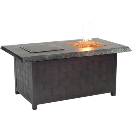 Rectangular Fire and Ice Coffee Table