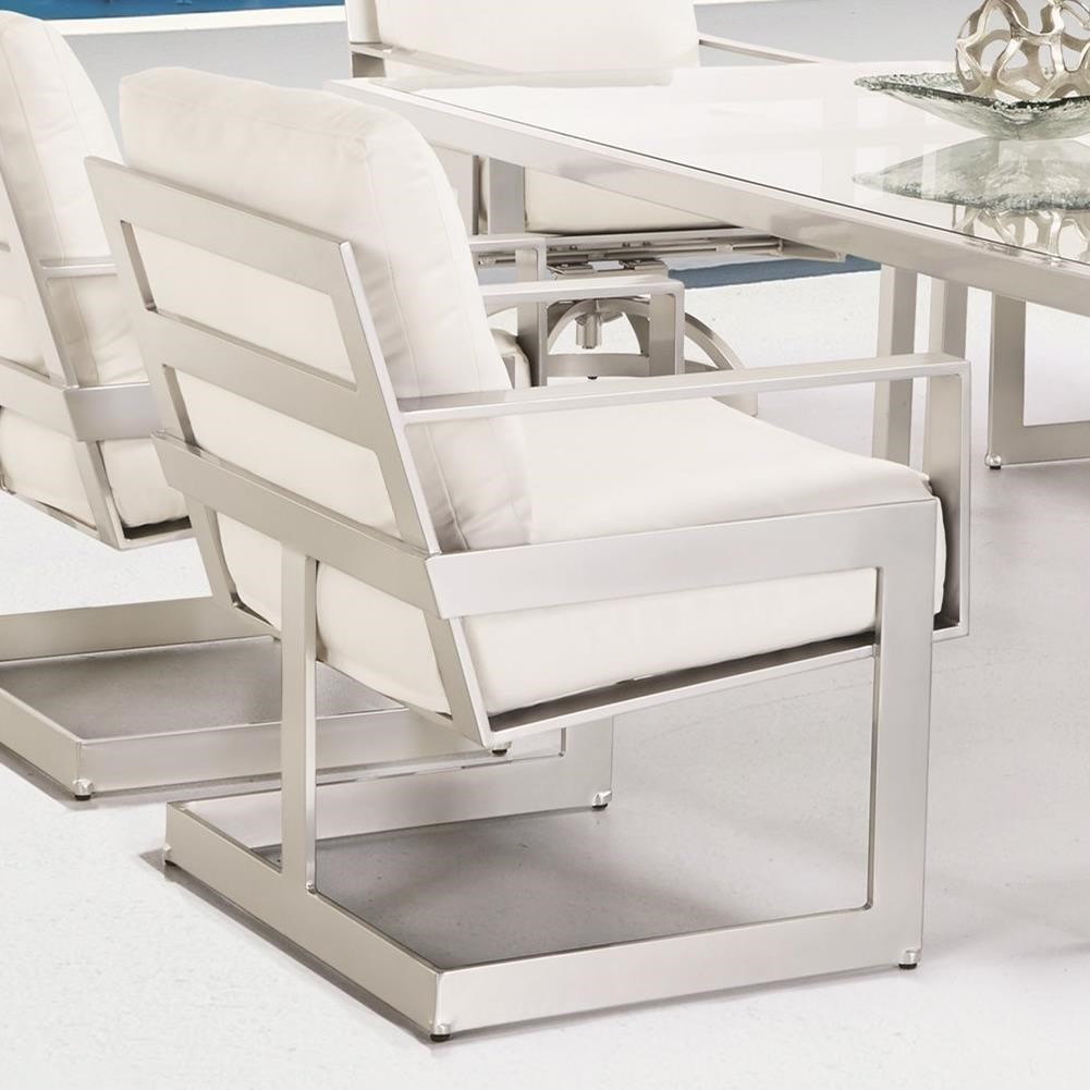 Castelle By Pride Family Brands EclipseCushioned Dining Chair ...