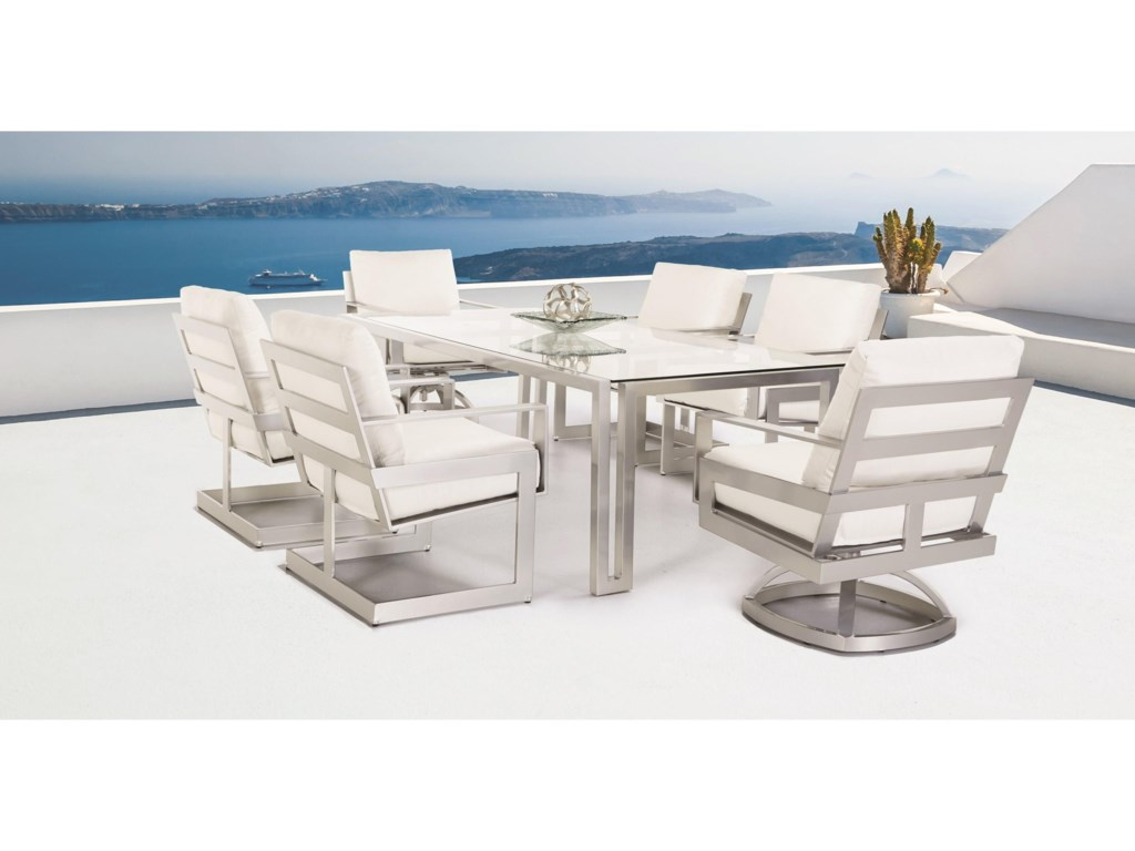 Castelle by Pride Family Brands EclipseCushioned Dining Chair