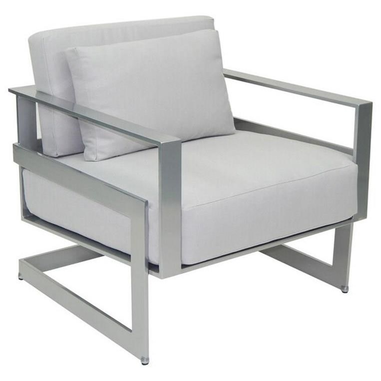 Castelle by Pride Family Brands EclipseCushioned Lounge Chair w/ One Pillow