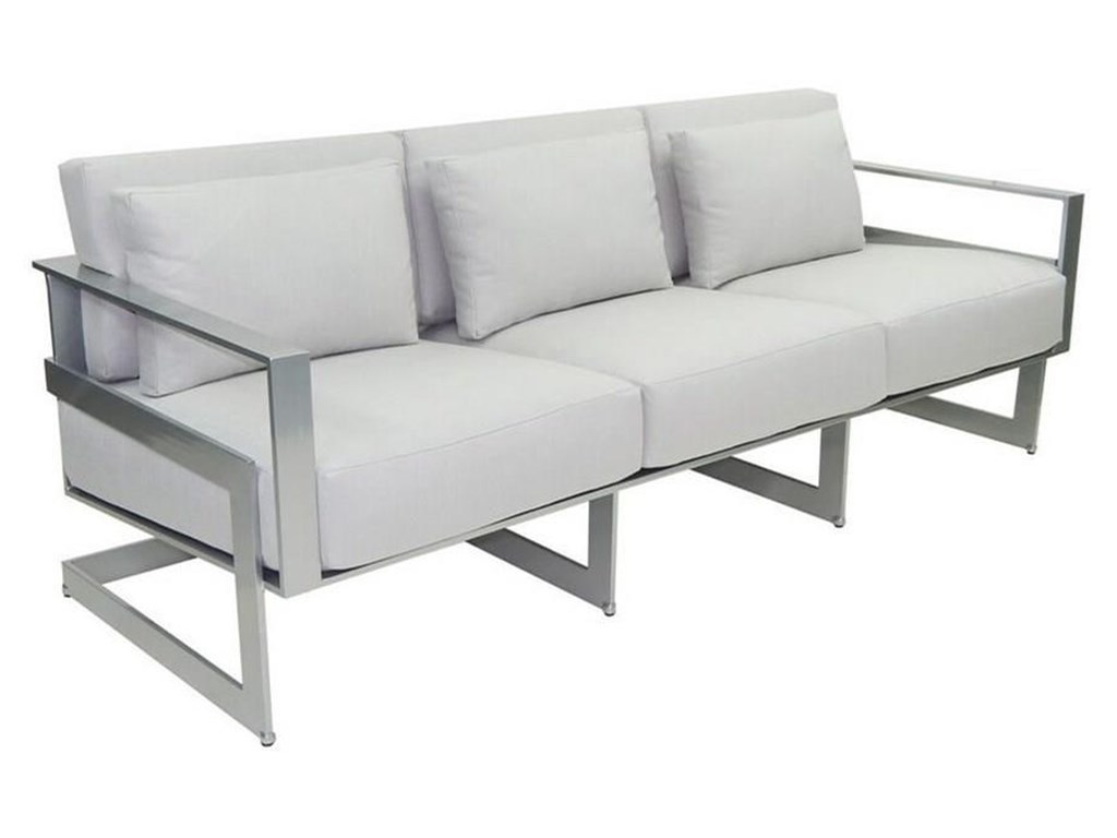 Castelle by Pride Family Brands EclipseCushioned Sofa with Three Pillows