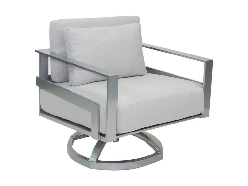 Castelle by Pride Family Brands EclipseCushioned Lounge Swivel Rocker w/ One Pillow