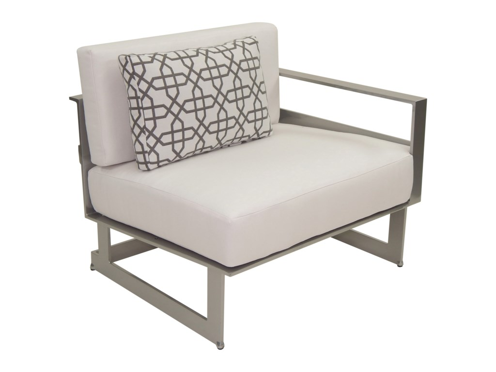 Castelle by Pride Family Brands EclipseSectional Left Arm Lounge Unit w/ One Pillow
