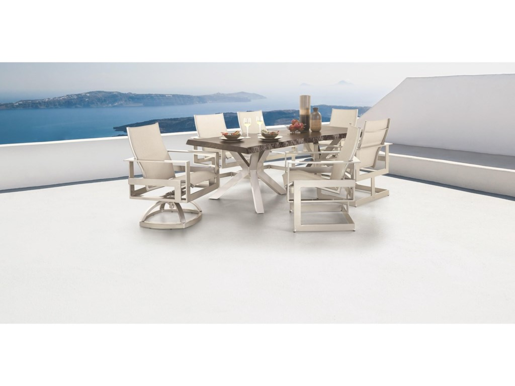 Castelle by Pride Family Brands EclipseSling Dining Chair