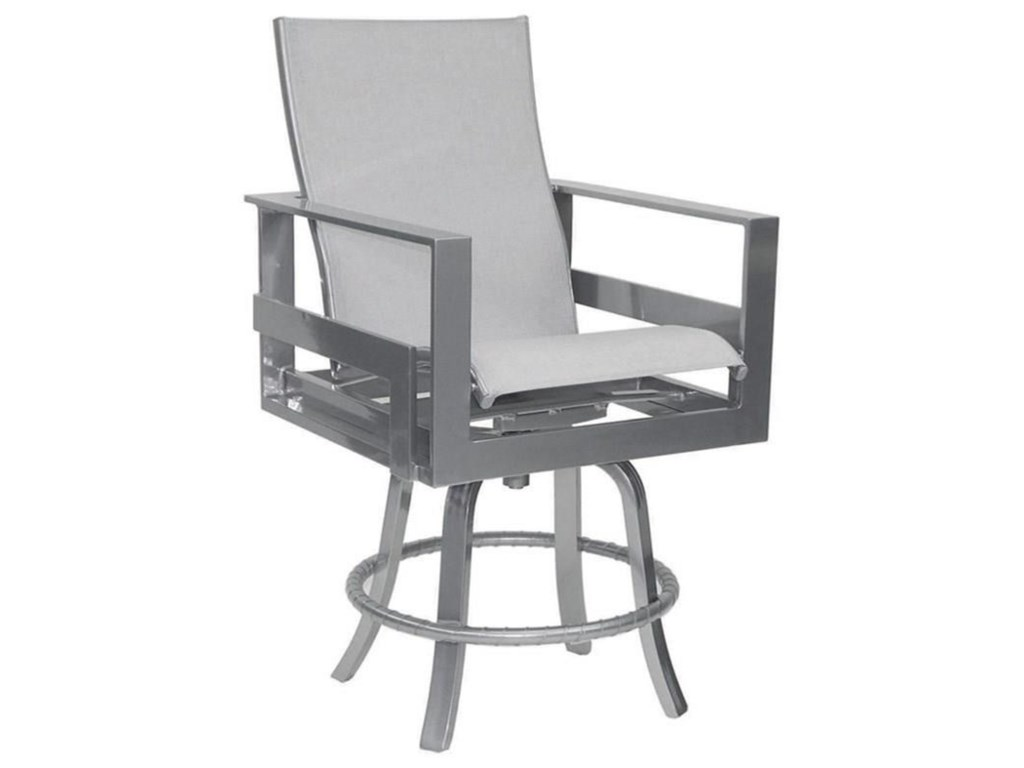 Castelle by Pride Family Brands EclipseHigh Back Sling Swivel Counter Stool