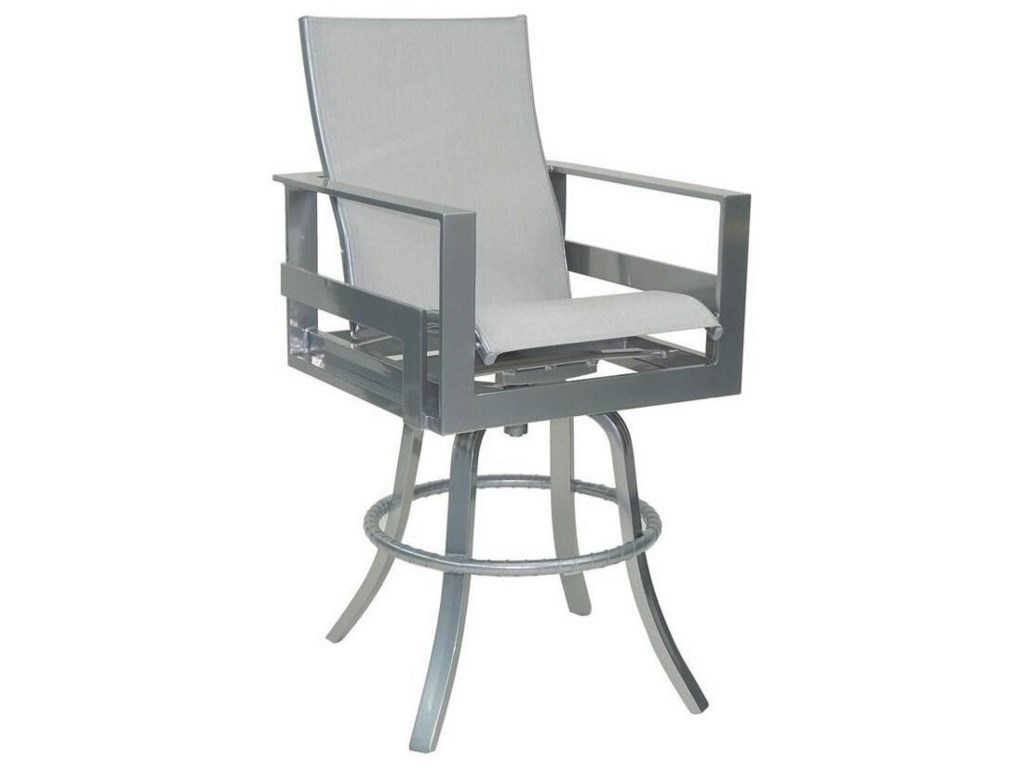 Castelle by Pride Family Brands EclipseHigh Back Sling Swivel Bar Stool