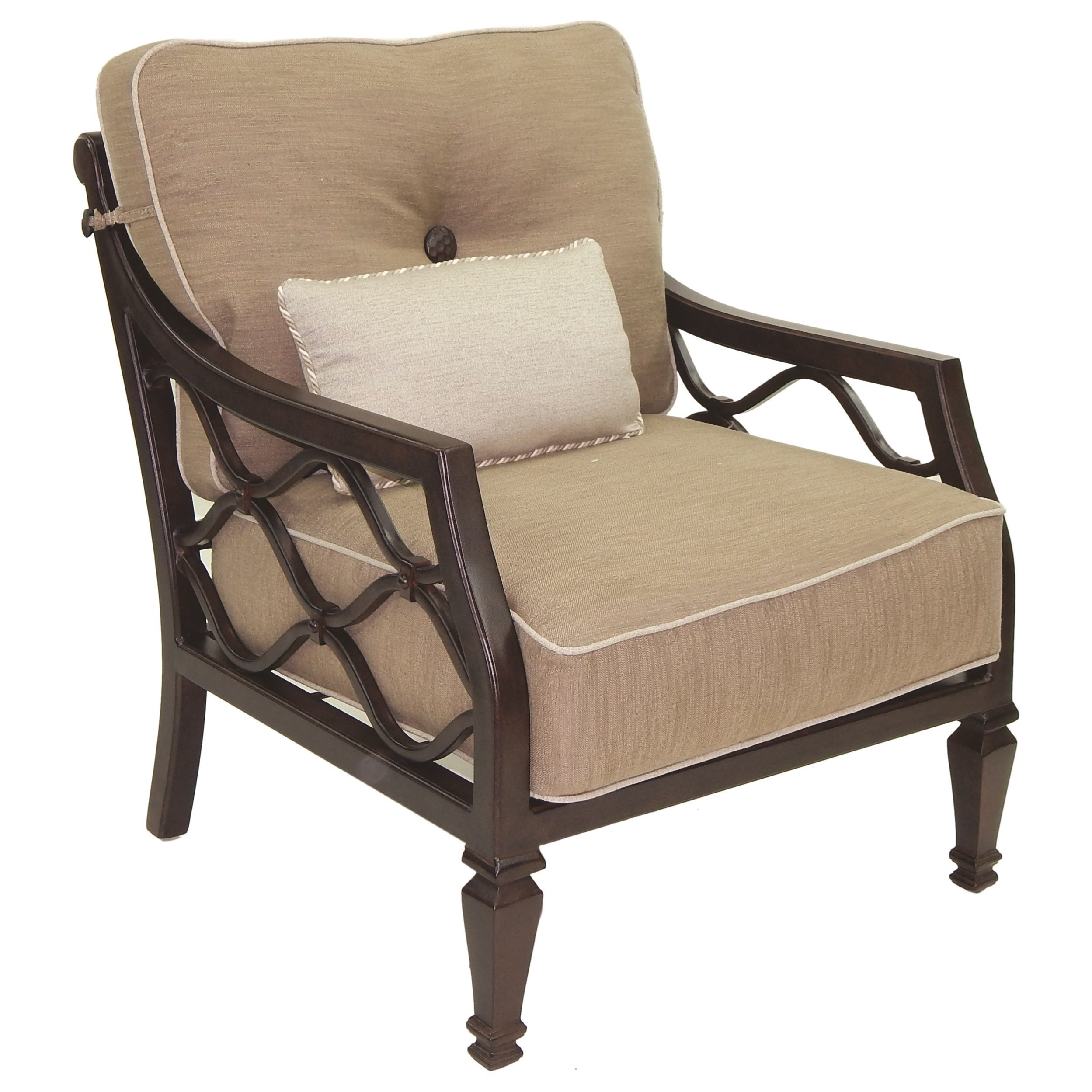 Cushioned Lounge Chair w/ One Kidney Pillow