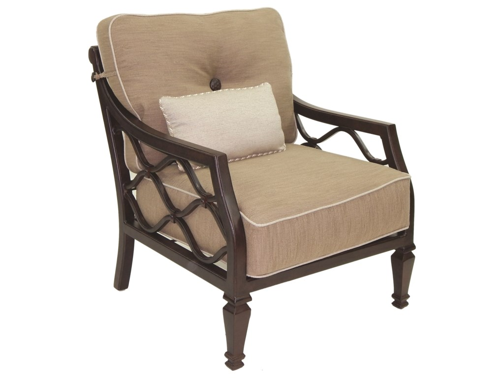 Castelle by Pride Family Brands Villa BiancaCushioned Lounge Chair w/ One Kidney Pillow