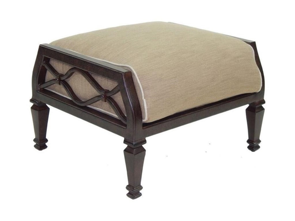 Castelle by Pride Family Brands Villa BiancaCushioned Ottoman