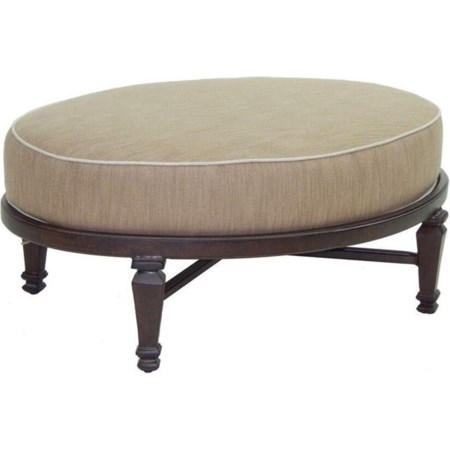 Cushioned Oval Ottoman