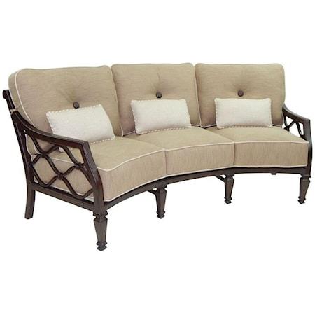 Cushioned Crescent Sofa