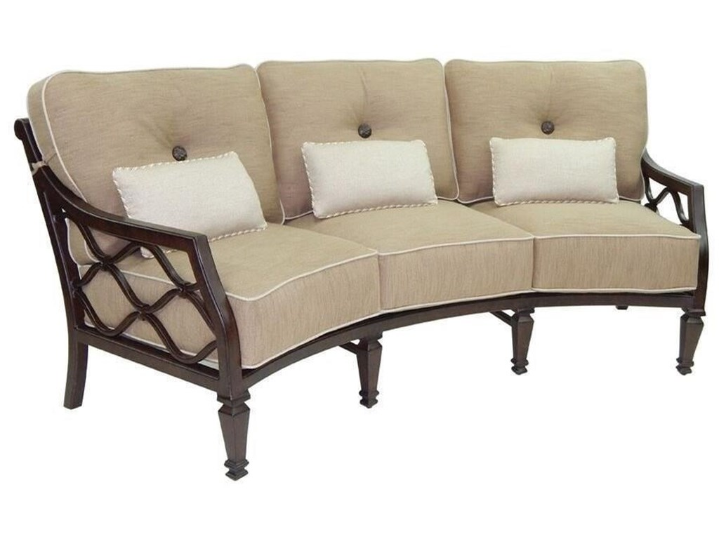 Castelle by Pride Family Brands Villa BiancaCushioned Crescent Sofa