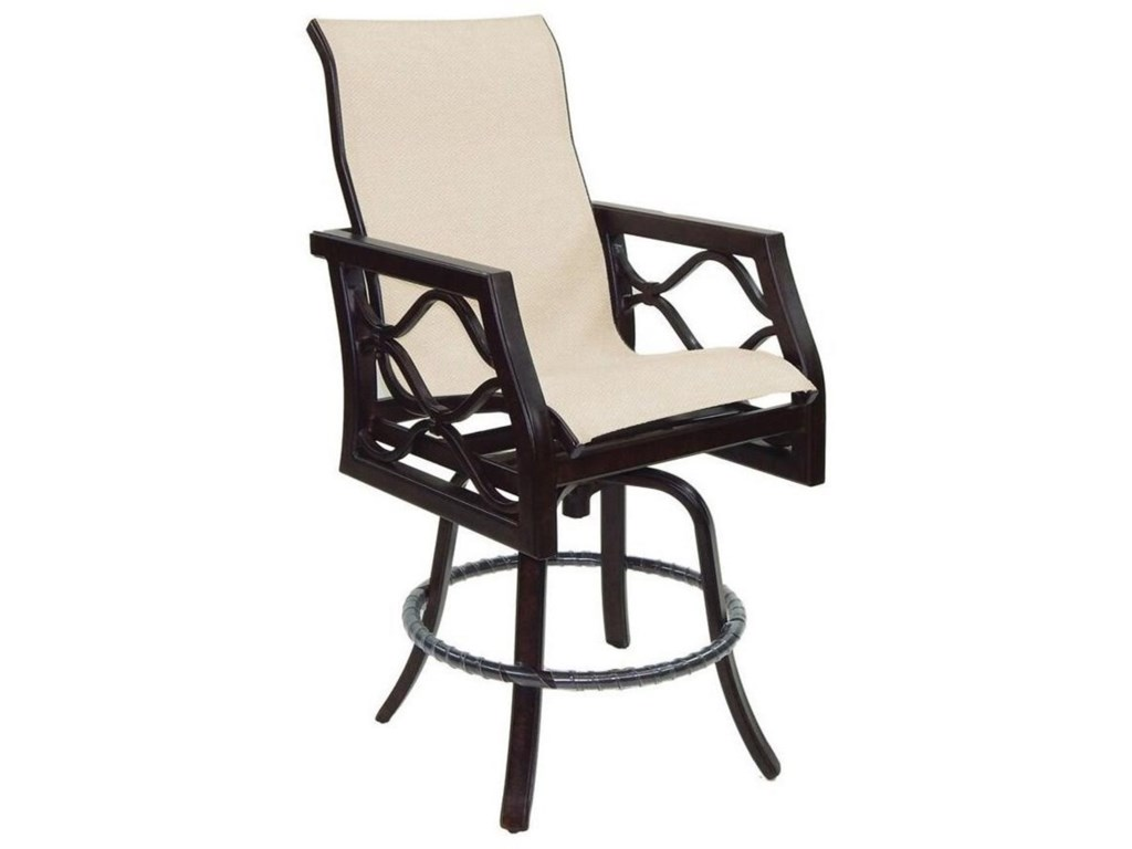 Castelle by Pride Family Brands Villa BiancaHigh Back Sling Swivel Counter Stool
