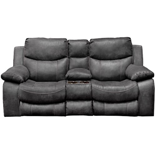 Catnapper  Catalina Casual Reclining Loveseat with Cupholder Storage Console