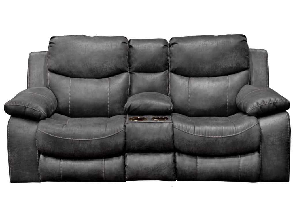 Catnapper  CatalinaPower Reclining Console Loveseat with