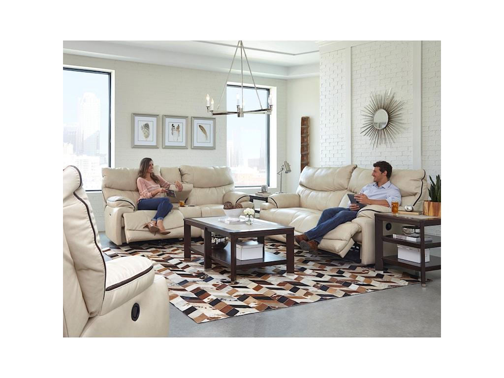 Catnapper LarkinLay-Flat Reclining Sofa
