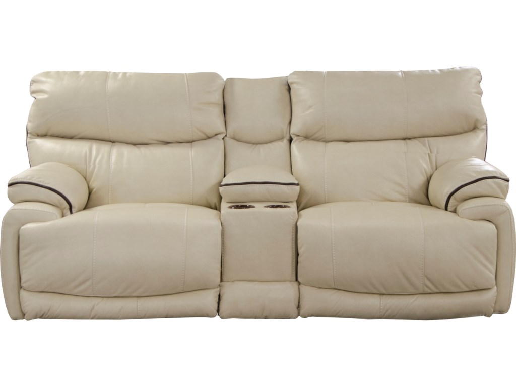 Catnapper LarkinLay-Flat Reclining Console Loveseat