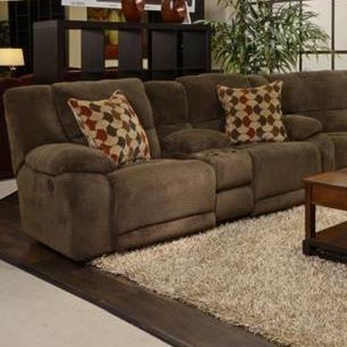 Catnapper Hammond Power Reclining Console Loveseat with Storage and Cupholders