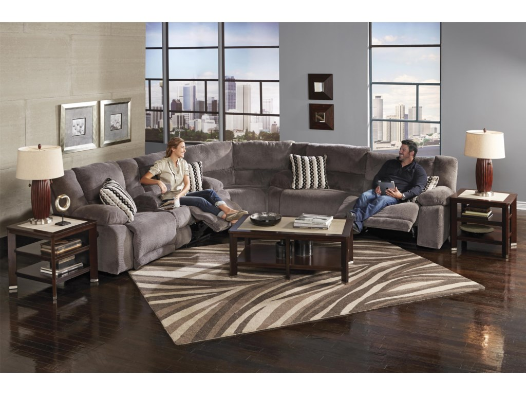 Catnapper HammondReclining Console Loveseat