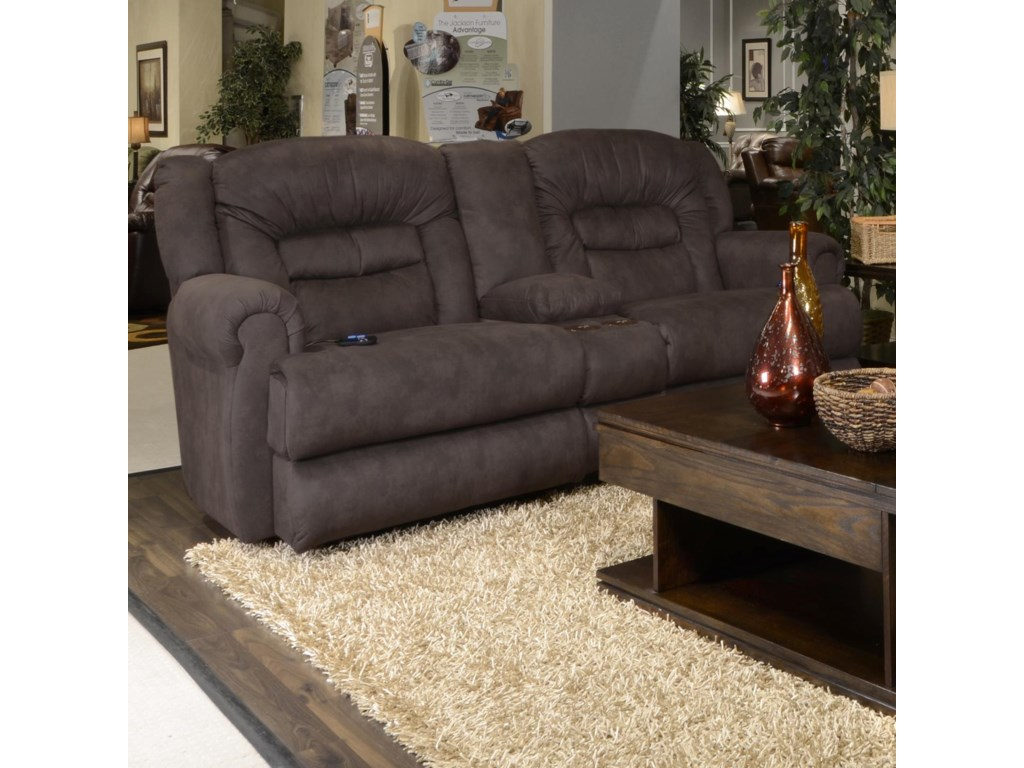 Catnapper AtlasReclining Console Loveseat