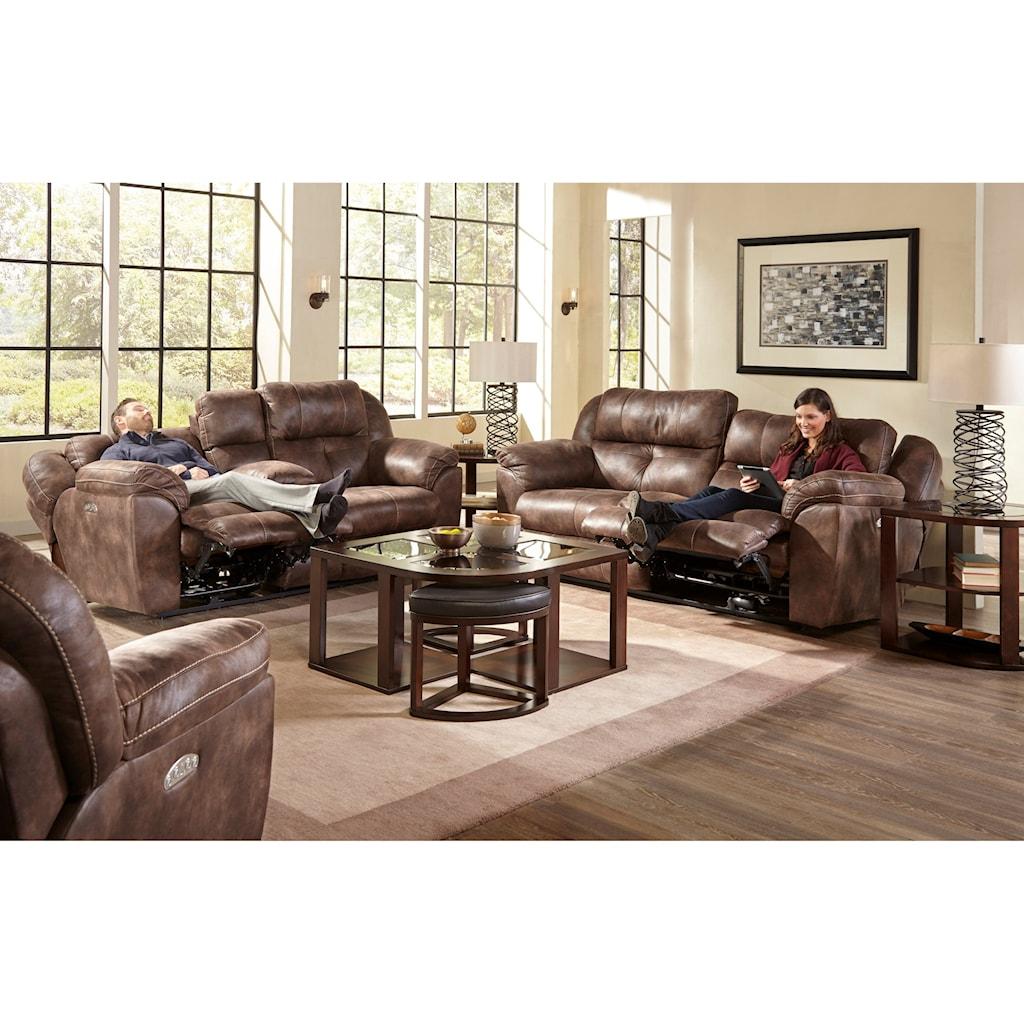 Catnapper Ferrington 761891 Power Headrest Lay Flat Reclining Sofa  ~ Lay Flat Reclining Sofa
