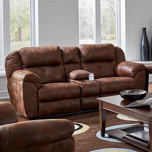 Catnapper Ferrington Pwr Headrest Lay-Flat Reclining Console Sofa
