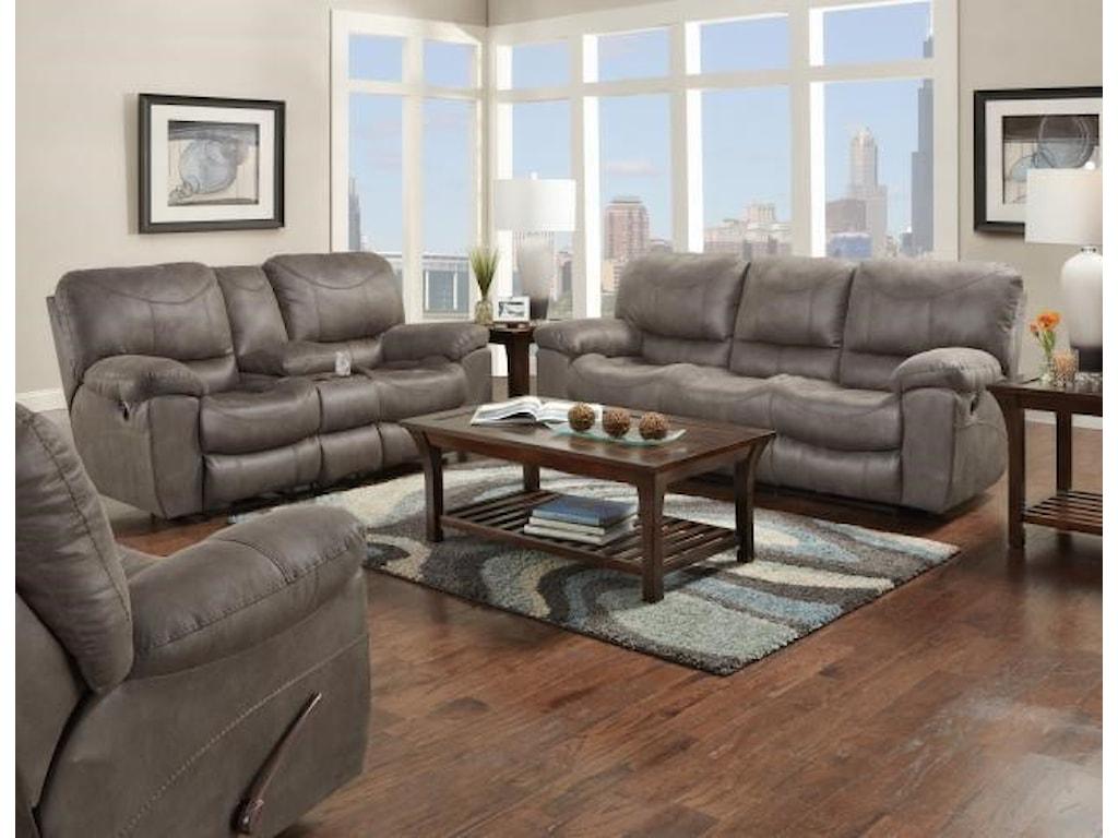 Catnapper TrentCharcoal Reclining Sofa