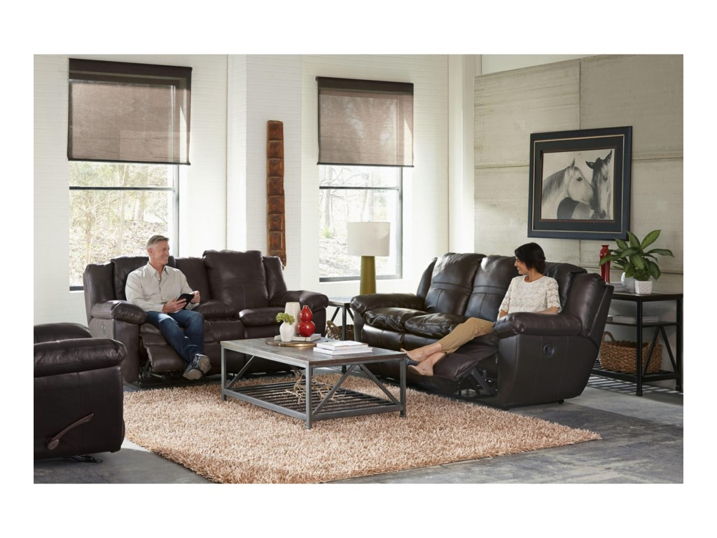 Catnapper 419 AriaPower Lay Flat Reclining Sofa