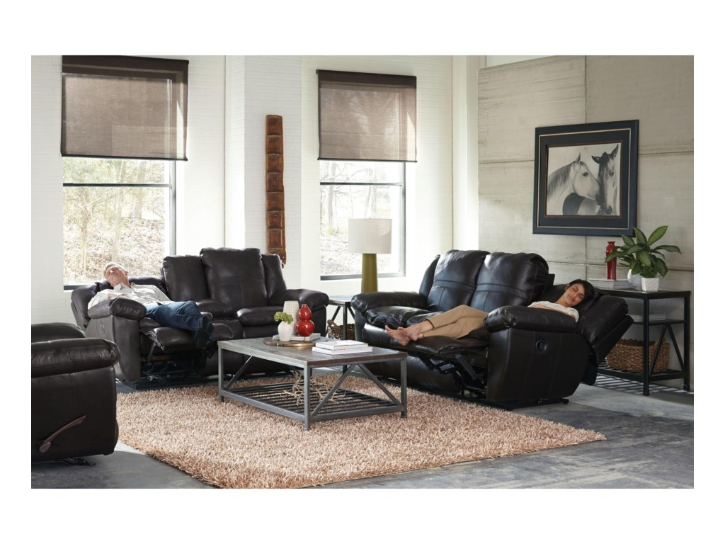 Catnapper 419 AriaPower Lay Flat Reclining Loveseat